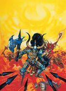Paladín y hombres Bestia por Dave Gallagher