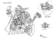 Boceto Comandante Enano 01 por Mark Gibbons