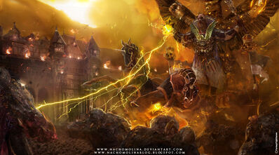 Gran Teogonista Volkmar Warhammer signs of faith por Nacho Molina.jpg