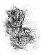Mosquetes Jezzail Skaven por Mark Gibbons Ilustración
