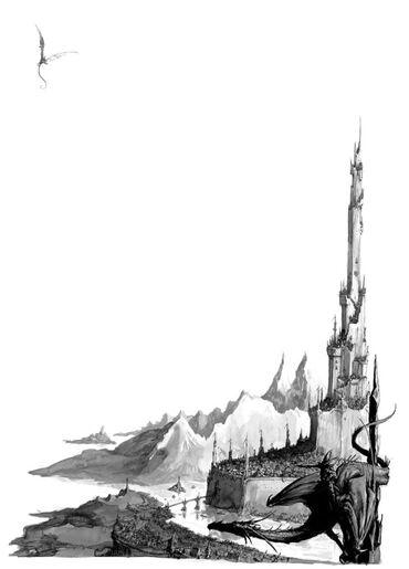 Ciudad Elfos Oscuros por Dave Gallagher.jpg