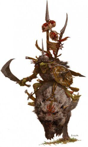 Jinete de Lobo goblin por Adrian Smith.jpg