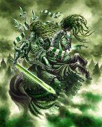 El Caballero Verde por Mark Gibbons