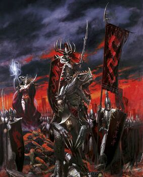 Portada Libro de ejército Elfos Oscuros 7ª edición por Paul Dainton.jpg