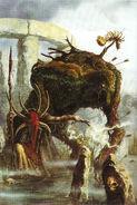 Portada La Sombra sobre Albión por David Gallagher Emisario Oscuro Bestia del Cieno