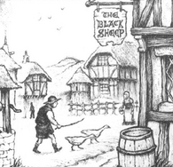 Grubentreich posada la oveja negra por Martin McKenna