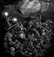 Batalla elfos oscuros y imperio por Dave Gallagher