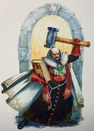 Sacerdote guerrero Warhammer Quest por Dave Gallagher