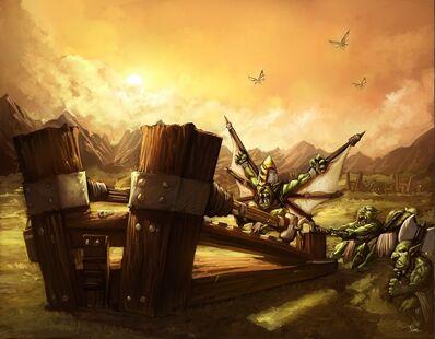 Warhammer Katapulta Lanzagoblins por Jorge Maese Faroldjo.jpg
