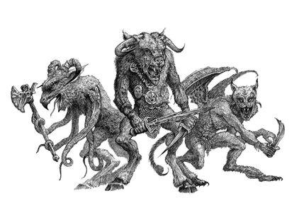 Hombres Bestias con mutaciones por Tony Ackland.jpg