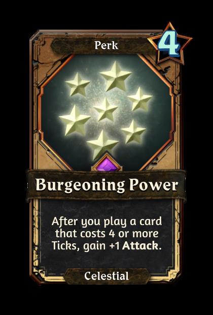 Burgeoning Power