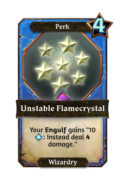 Unstable Flamecrystal