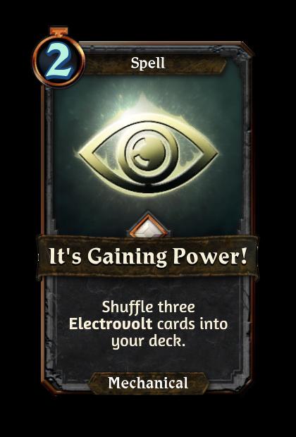It's Gaining Power