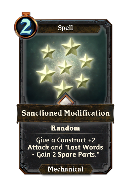 Sanctioned Modification
