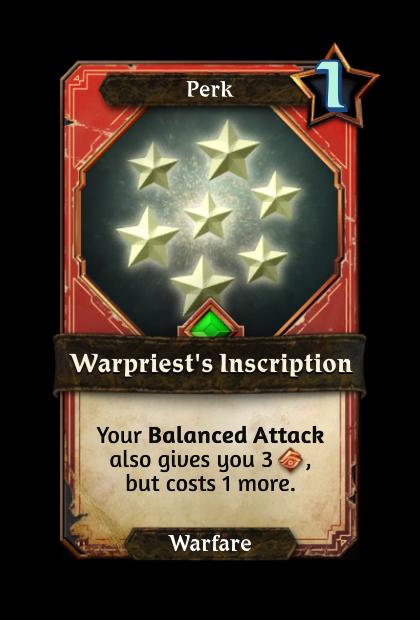 Warpriest's Inscription
