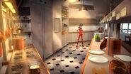 Eiffel Tower Restaurant kitchen concept art