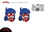 Unknown Chibi episode - Ladybug scream model sheet