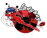 Ladybug Miraculous holder artwork