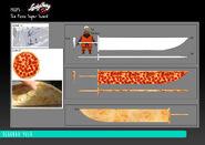 Kung Food - Pizza Super Sword model sheet