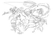 Early Quantic Kids sketch by Thomas Astruc