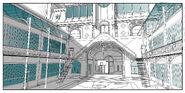 College Francoise Dupont courtyard concept art
