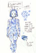 Snowflake drawing by Thomas Astruc