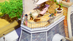 Click here to view the image gallery for Marinette's balcony.