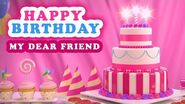 Happy Birthday Song My Dear Friend. Amazing beautiful and colorful birthday greeting animation