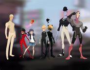 Ladybug PV character designs