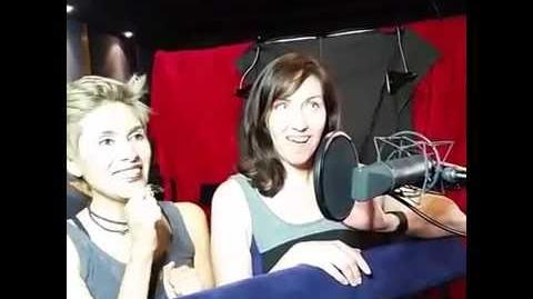 Cristina Vee and Carrie Keranen recording Marinette's and Alya's lines