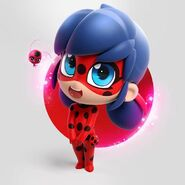 Chibi Ladybug Circle BG