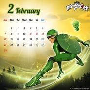 Miraculous Calendar February 2021