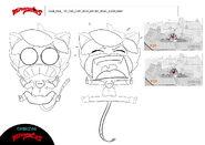 Fatal Posy - Cat Noir panic model sheet