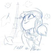 Fall in Paris sketch by Angie Nasca
