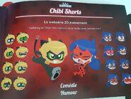 Chibi Ladybug & Cat Noir facial expressions Concept Art