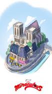 Paris Digital Drawing with Notre-Dame de Paris
