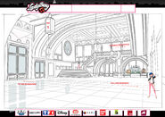 College Francoise Dupont interior early design concept art