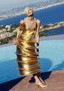 Pierre Cardin Spring 2009 Gold Dress