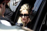 11-21-12 Gaga leaving hotel in Chile 002
