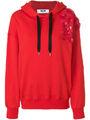 MSGM - Damen floral embellished hoodie