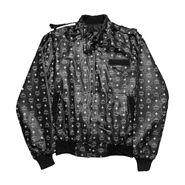 MCM - Monogram Faux leather racer jacket