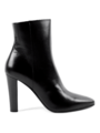 Saint Laurent - Pre-Fall 2016 - Lily black leather zip booties