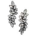 Kenneth Jay Lane - Crystal leaf earrings