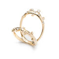 Alexis Bittar - Double band crystal ring