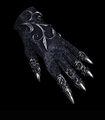 Michael Schmidt - Wrist-length glove fully showered in Swarovski crystals