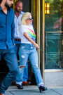 6-26-15 Leaving her apartment in NYC 002