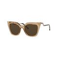 Fendi - ''Iridia'' FF 0060S MSYEC (Champagne gold crystal yellow brown 52 mm)