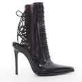 Haider Ackermann - Leather open-back corset and zipper ankle boots with pointed toe