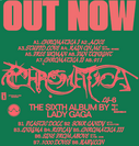 Chromatica out now poster