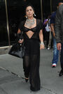 6-12-14 Leaving her apartment in NYC 001